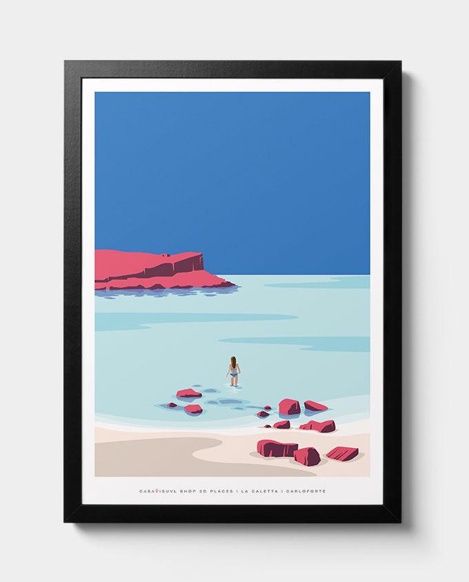 caletta carloforte summer room wall art interior design italian vintage travel posters places