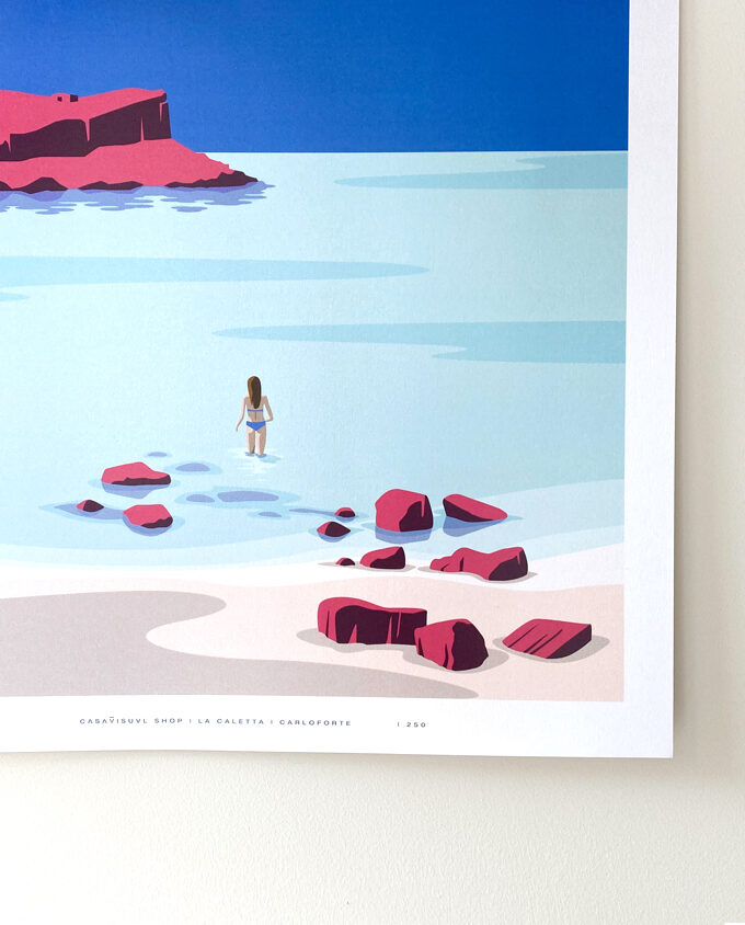 Carloforte_la-caletta_isola-di-san-pietro_poster-illustration_travel-poster_travel
