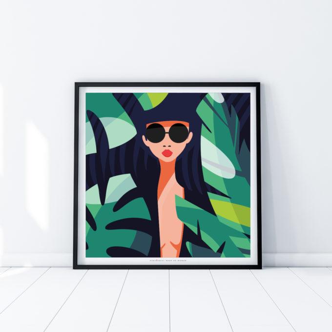 posters women room interior design wall art design woman season