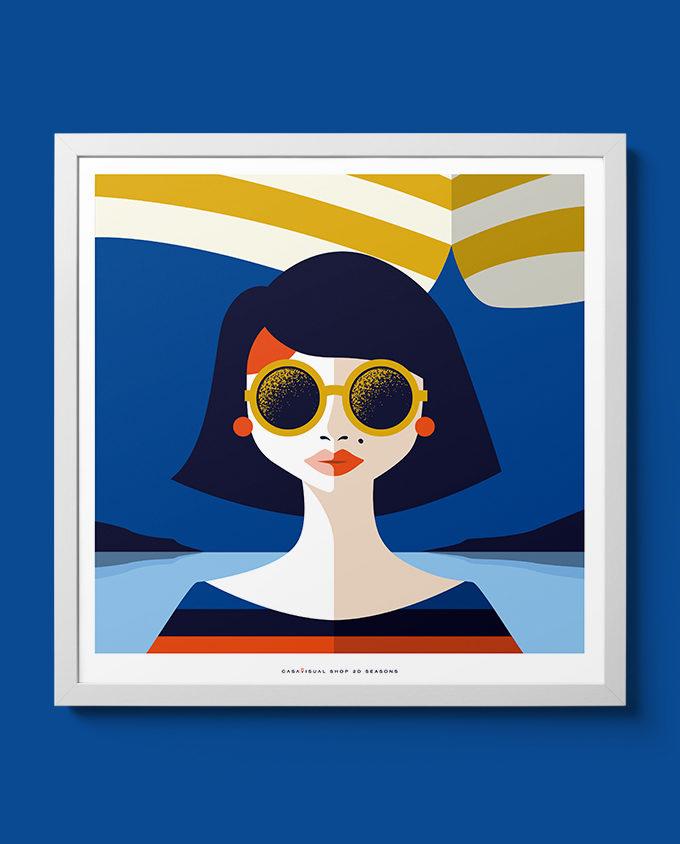summer woman posters women seasons room interior design wall art design