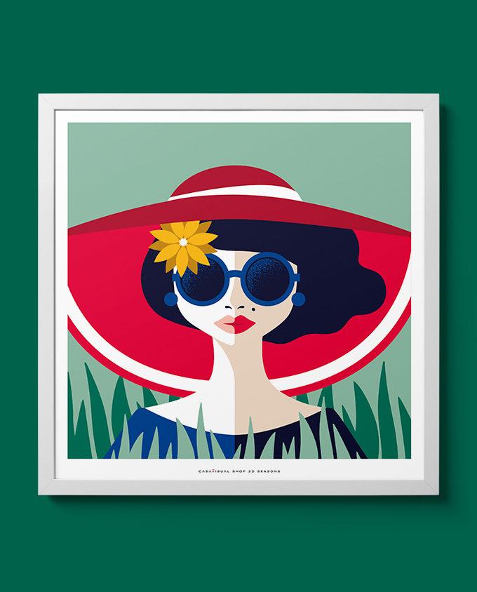 posters women seasons room interior design wall art design