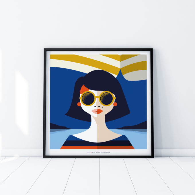 Summer posters women room interior design wall art design