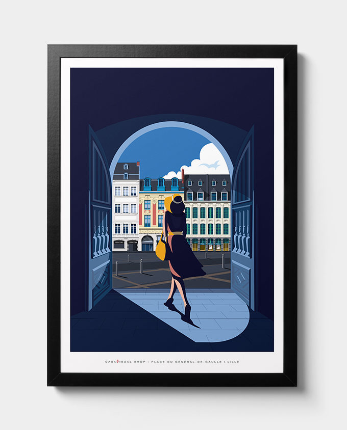 Lille Francia lille place architecture woman summer sardinia room wall art interior design vintage travel posters places