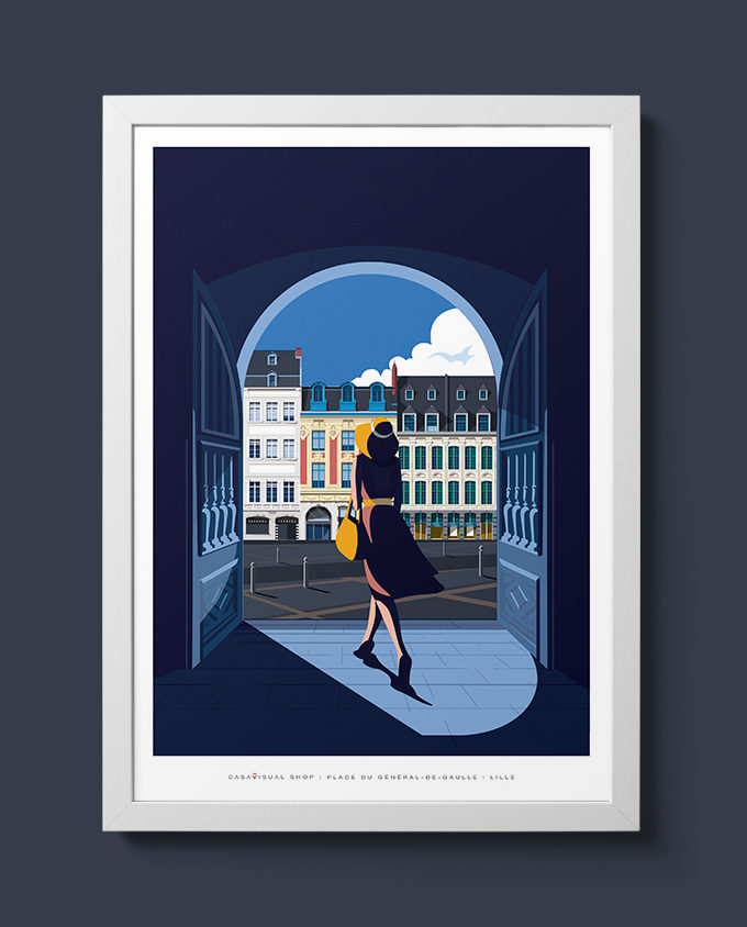 lille place architecture woman summer sardinia room wall art interior design italian vintage travel posters places