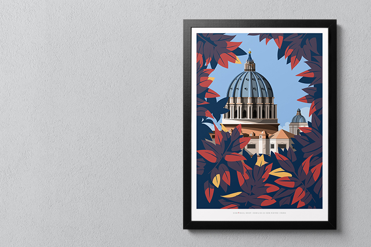 poster illustration about rome San Pietro