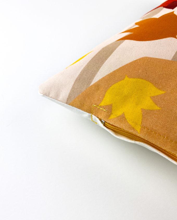 Autumn pillow woman vintage
