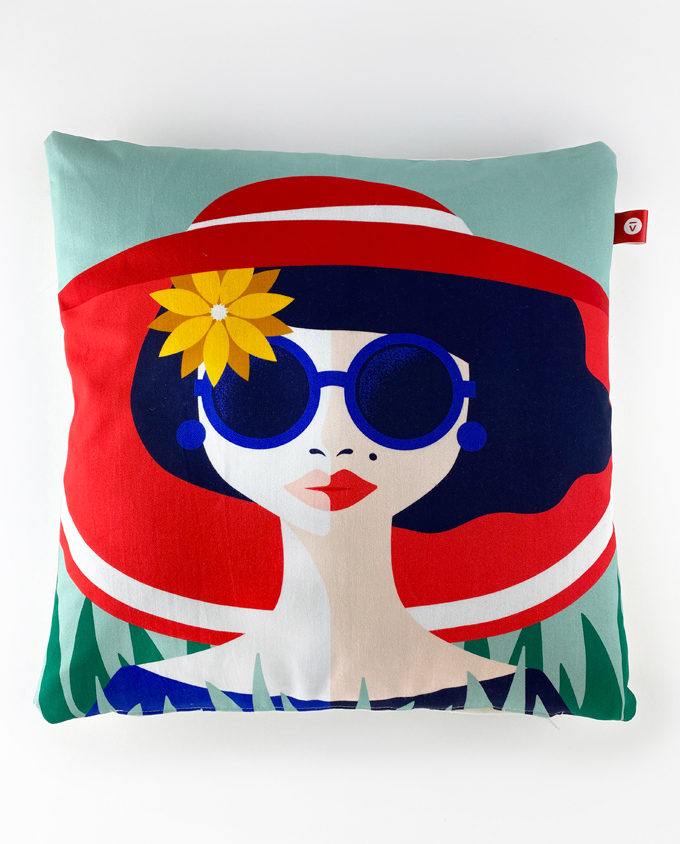 Pillow spring woman vintage room
