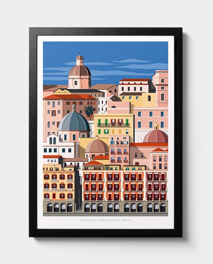 Poster About La Marina area in Cagliari