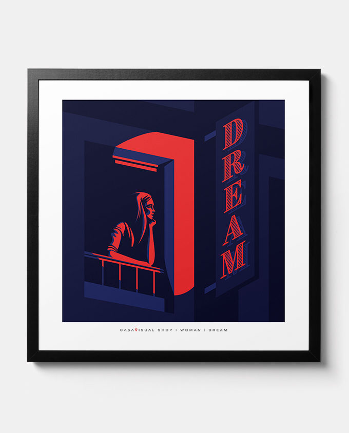 Poster about woman dream