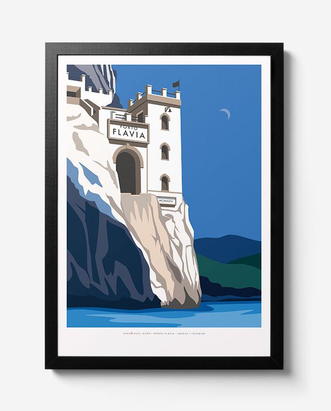 Travel Poster Su Porto Flavia Masua