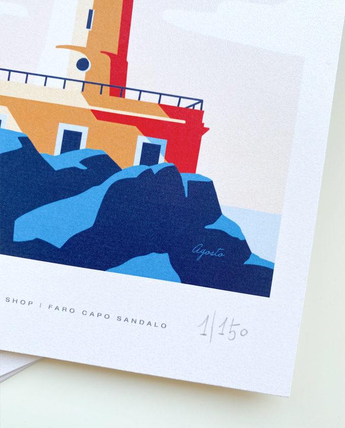 Illustrazione sul Faro di Capo Sandalo Sardegna