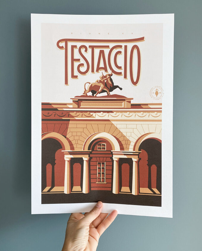 Travel poster about Roma