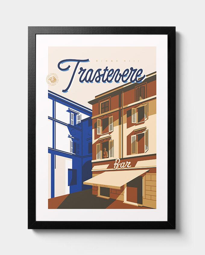 Bar San Calisto illustrazione poster edizione limitata