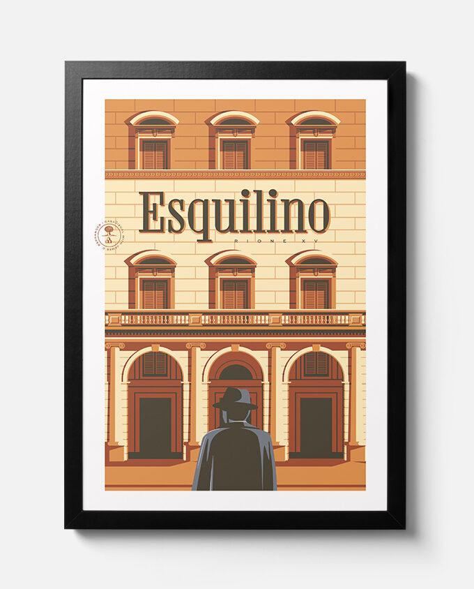 travel poster_architettura_Rione_Esquilino_roma