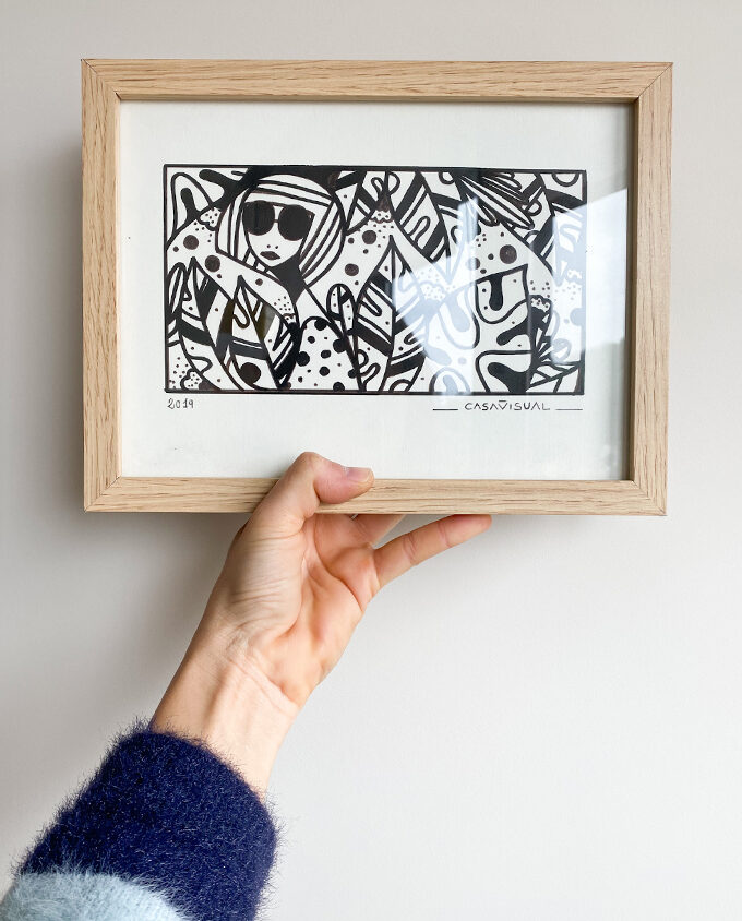 Hand Made art about woman